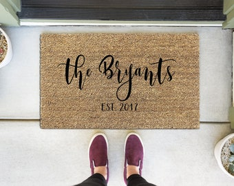 Personalized Door Mat, Custom Welcome Mat, Custom Doormat, Personalized Doormat, Custom Door Mat, Personalized Welcome Mat, Front Door Mat