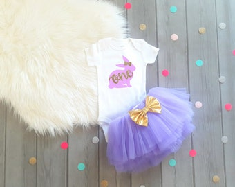 first birthday Easter Outfit Easter first birthday outfit Easter birthday 1st birthday Easter Rabbit birthday bunny birthday lavender