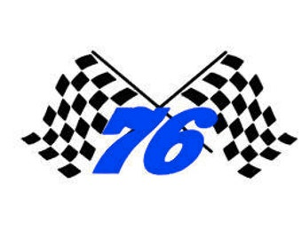 Checkered Flag with Racing Number