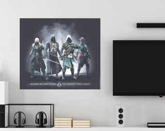 Assassin's Creed Work In The Dark To Serve The Light Assassins Wall Decal Officially Licensed by Ubisoft