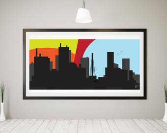 This City Skyline Digital Print