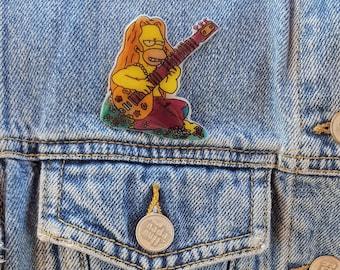 Hippie Homer Simpson Pin