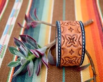 Western leather Cuff
