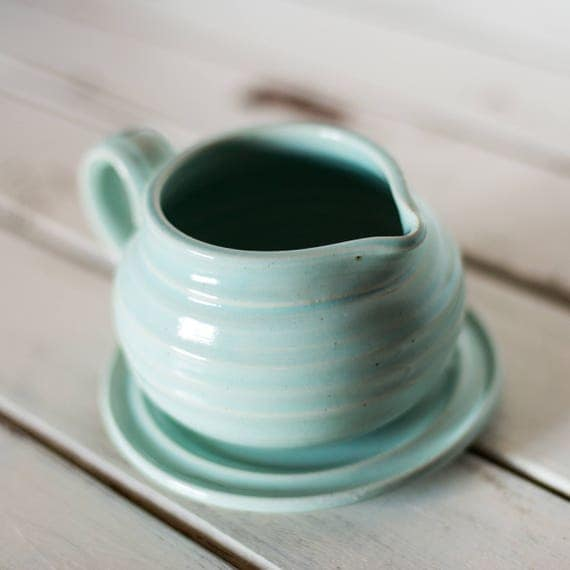 Handmade Ceramic Gravy Boat Creamer Syrup Small Pitcher Ready to Ship