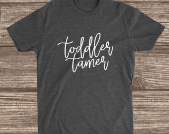 Toddler Tamer Dark Heather Grey T-shirt - Toddler Mom Shirt - Babysitter Shirt - Preschool Teacher Shirt