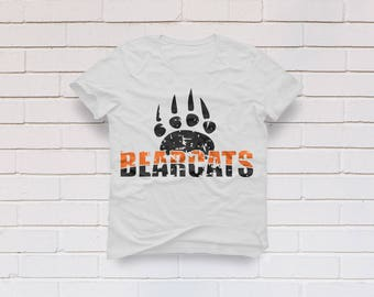 Bearcats svg, Bearcats clipart, Distressed svg, Grunge svg, Bearcats cricut, Bearcats distressed svg, Cricut, Cameo, Svg, DXF, Png, Pdf Eps