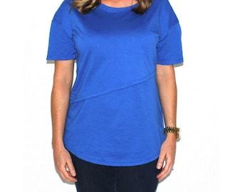 NURSING QUEEN Organic Asymmetrical Nursing T-Shirt (3 colors)