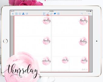 Pink Digital Planner Stickers - Digital Stickers, PNG Stickers, Digital Planner GoodNotes, Planner Stickers, Digital Clipart