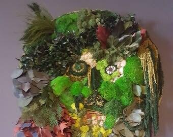 Preserved Moss Face Wall Garden