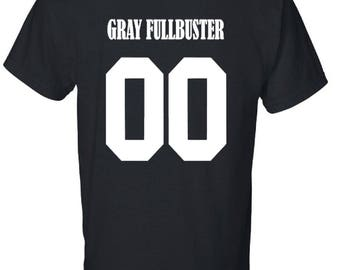 GRAY FULLBUSTER Jersey Style 00 Fairy tail Inspired Anime Unisex T-Shirt