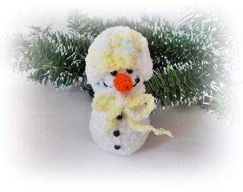 Amigurumi Snowman Christmas Ornament christmas decoration Christmas Snowman Crohet snowman Home decor christmas gifts
