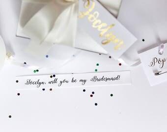 Will you be my Bridesmaid? Balloon box Kit - Ivory