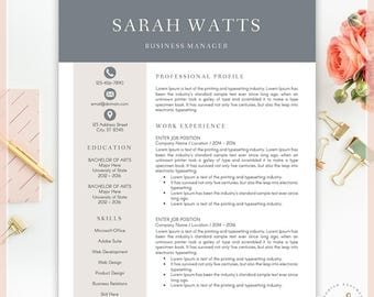 Resume Template, CV Template For MS Word, Creative Resume, Modern Resume  Design,  Design Resume