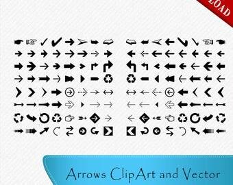 64 Arrows svg, Arrow Silhouette, Arrows Clipart, Arrow Vector, Cut file, digital download, svg, dxf, eps, png