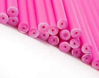50 - Pink Lollipop Sticks 4 inch Cake Pop Sticks Cookie Sticks Baking and Chocolate Sticks Lollipop Sticks Baking Supplies Candy Supplies