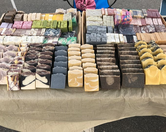 Featured listing image: Sample Pack Assorted Handmade Soaps  FREE SHIPPING  Artisan Soap Mini Sample  Natural Skin Care best seller greatest hits Vegan Soap Sampler