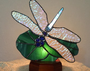 Fan Nightlights with Wood Stand-Sunflower, Dragon Fly, Tree.