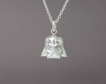 925 Sterling silver Darth Vader pendant - Darth Vader necklace - Star Wars necklace - 3D Star Wars Pendant