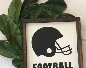 Football sign, farmhouse sign, boys room, sports