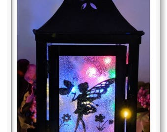 LED Fairy/Butterfly Metal Lantern