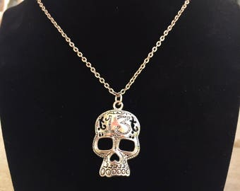 Skull 13 Necklace, Skulls, Skull Jewelry, Halloween, Halloween Jewelry, Halloween Necklace