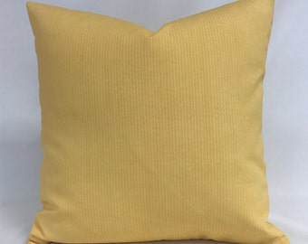 Pillow Cover - Outdoor Pillow - Solid Yellow Pillow - Yellow White Pillow - 12 x 24 lumbar- Fully Lined - Invisible Zipper