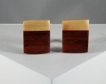 Wood Cuff links (Padauk and Maple)