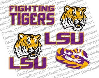 LSU SVG, DXF, png, eps, cdr, Vector, Digital Cut File