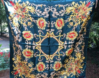 Vintage Chinese Silk Scarf 1980s Like New