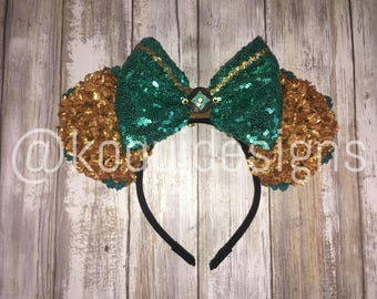 Jasmine Minnie Ears, Jasmine Ears, Aladdin Ears, Mickey Ears, minnie ears, Mouse Ears