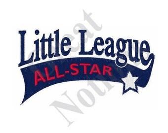 Little League All Star - Machine Embroidery Design