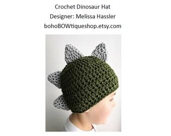 crochet dinosaur hat pattern baby dinosaur hat crochet pattern crochet hat pattern crochet dinosaur photo prop gifting dino boy pdf spikes