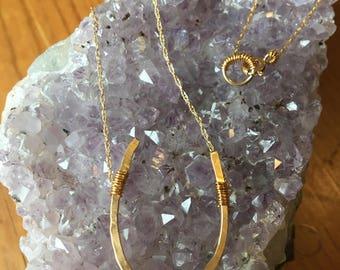 Gold Horseshoe Necklace