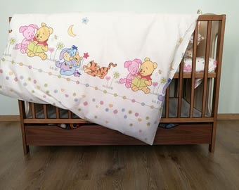 Winnie the Pooh bedding set toddler Winnie the Pooh baby crib bedding Pooh pillowcase for kids Toddler duvet cover Disney Crib bedding cover
