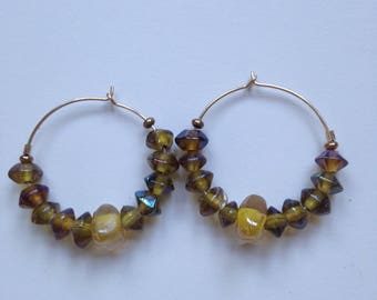 Sterling and Luster Beads Earrings