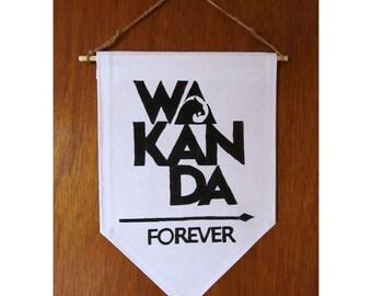 Wakanda Forever Sign / Black Panther Wall Art / Wakanda / Black Panther Marvel / Black Panther Party Banner / Forever Wakanda Sign / Marvel