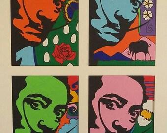 Salvador Dali Portrait Painting
