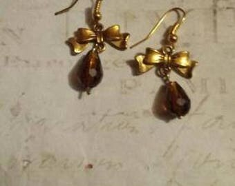 Bow and Pearl Earrings