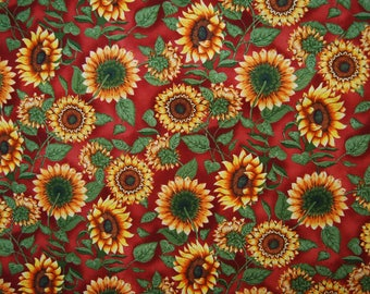 Cotton sunflowers Fabric