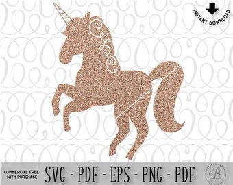Unicorn SVG, Unicorn Silhouette svg, Unicorn Clipart, Unicorn cut file, Unicorn png, eps, dxf, svg files for cricut, svg files
