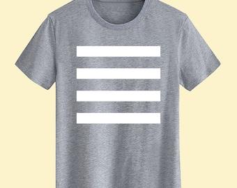 Golden Stripe Unisex T shirt T Shirts For Men T Shirts For Women T Shirt For Youth Street T-shirts Hipster T Shirt Customize Gift T Shirt