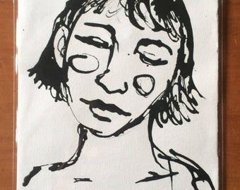 A5 Original Ink Artwork - Dreamer 2