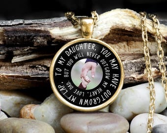 Daughter Necklace From Father, Father Daughter Jewelry, Father Daughter Necklace, Necklace for Daughter from Father, Dad Daughter Gift