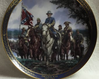 Bradford Exchange - The Gallant Men of the Civil War - 'Robert E. Lee' Collector Plate (#073)