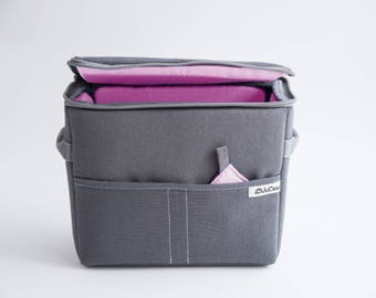 NEW! Camera Case - DSLR Camera Bag - Protection Case - Photo Bag Insert - JuCase Gray/Pink