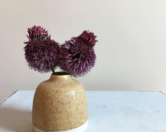 Small Oatmeal Rustic Bud Vase