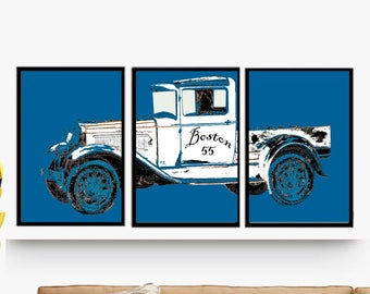 Triptych Poster Decorative Downloadable JPG, poster, laminates 3 units, decoration House, office, studio. Download On Line