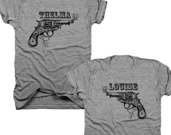 2-Pack Thelma and Louise Best Friends t-shirt set  (B071)