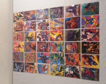 1990s Lot of Marvel Comic Book Cards