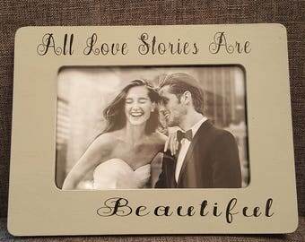 LOVE  STORIES  PICTURE  Frame. wedding, bridal shower, gift .picture  frame